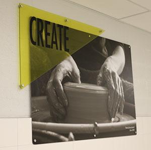 Art on QHS wall - create