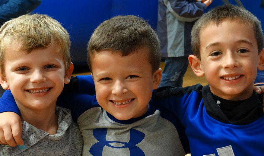 Three elementary school boys
