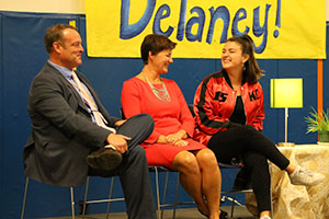 Delaney Silvernell and her parents