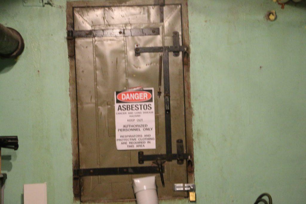 Photo of QMS crawlspace door